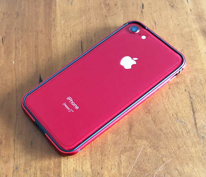 iPhone 8 (PRODUCT)RED 256GB Humixx バンパー レッド