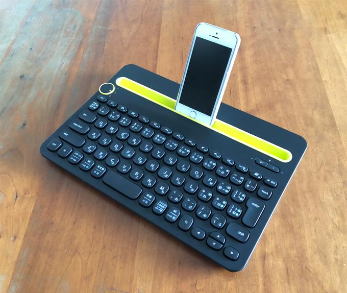 ロジクール Bluetooth マルチデバイス キーボード K480 & Apple iPhone SE