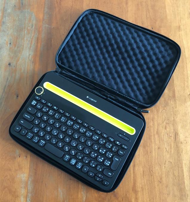 ロジクール Bluetooth マルチデバイス キーボード K480 & エレコム ZEROSHOCK インナーバッグ ZSB-IBNM11BK