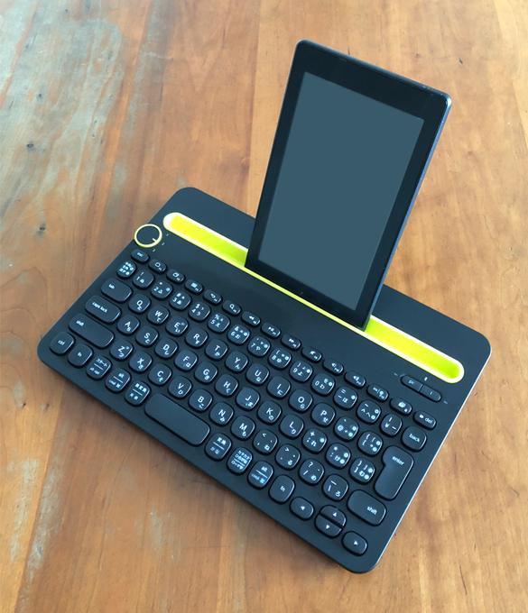 ロジクール Bluetooth マルチデバイス キーボード K480 & Amazon Fire 7 タブレット